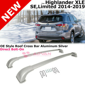 Highlander Limited Xle 14 18 Roof Top Rack Cross Bar Luggage Carrier 2pcs Silver