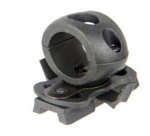 Lancer Tactical SpecOps Military Style Helmet 20mm Rail Flashlight Clamp Black