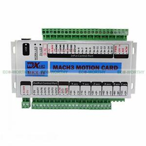 Mach3 Usb 4 Axis Cnc Motion Control Card Breakout Board 400khz Windows 7 Upgrade