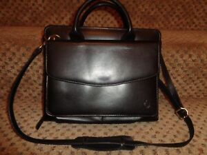 Franklin Covey Black Leather Classic Sz Purse Planner Shoulder Strap no Rings