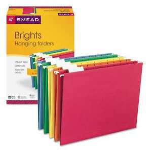 Smead 1 5 Tab brights Hanging File Folders pack Of 25