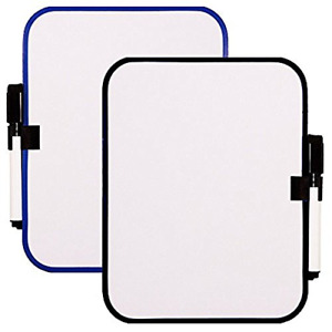 2pc Magnetic Whiteboard Dry Erase Fridge Board Small Frame Color Vary 6 5x8 25