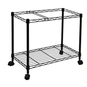Oceanstar Portable 1 tier Black Metal Rolling File Cart