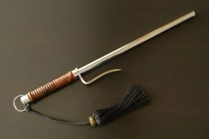 New Jitte Japanese Rattan Winding Police Samurai Tool In Edo Period