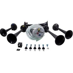 Hornblasters Mh dixie Musical Air Horn System With 5 Trumpets And Air Compressor