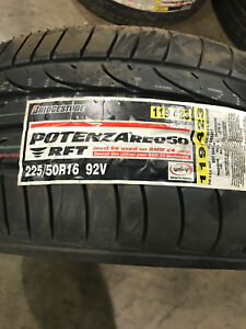 2 New 225 50 16 Bridgestone Potenza Re050 Rft Run Flat Tires