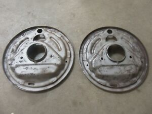 1960 Ford Fairlane Front Spindle Brake Shoe Backing Plate Pair Parts Hot Rod