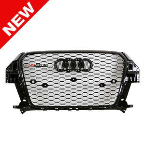 2013 2015 Audi Q3 Rsq3 Style Honeycomb Mesh Grille Gloss Black