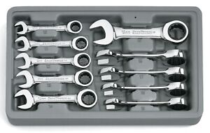 Gearwrench 9520d 10 Pc Metric Stubby Combination Ratcheting Set 10mm 19mm