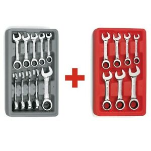 Gearwrench 10 Pc Metric 7 Pc Sae Stubby Ratcheting Wrench Sets 9520d 9507d