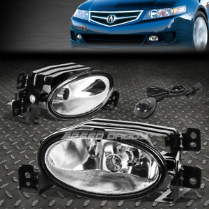 For 06 08 Acura Tsx Clear Lens Front Bumper Driving Fog Light Lamps W Switch
