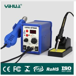 Yihua 878ad 2 In 1 Hot Air Gun And Soldering Iron