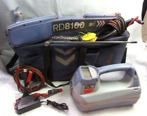 Spx Radiodetection Rd8100 W tx 10 Clamp Cable Pipe Locator fully Working
