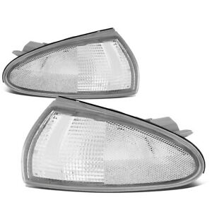 Fit 1993 1996 Mitsubishi Mirage 2dr Front Bumper Corner Light Turn Signal Lamps