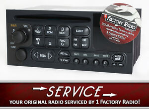 Remanufacture Service For 1995 2002 Chevy Gmc Car Truck Van Amfm Cd Player Radio