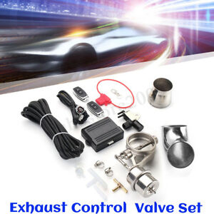 2 5 63mm Exhaust Control Valve Set W Vacuum Actuator Cutout Pipe Close Style