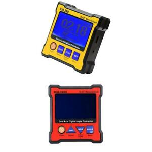 2 Set Dual Axis Digital Angle Protractor Inclinometer Dual Axis Level Box