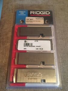 Ridgid 47775 Set 1 8 Npt High Speed Unv Pipe Dies Rh