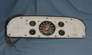 Vintage Ford Truck Dash Panel With Speedometer Gas Temp Gauges 1957 1958 1959