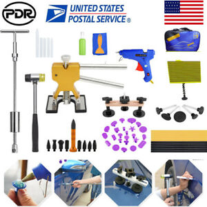 Us Pdr Tools Kit Dent Lifter Puller Line Board Auto Paintless Hail Removal Set