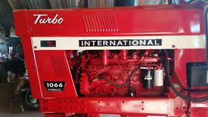 International Farmall 1066 Decals Black Chrome Hood And Numbers C details