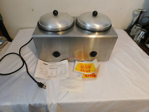 Star Dual Well Warmer Helmco lacy Wet Or Dry Food Soups Dips 700 Watts
