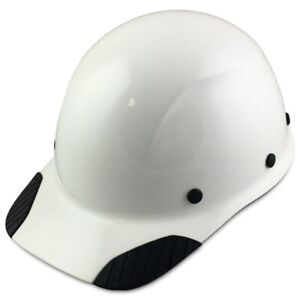 Dax Fiberglass Composite Lift Safety Cap Style White Painted Hard Hat