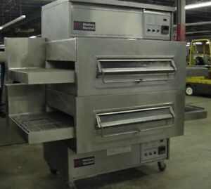 Middleby Marshall Ps360wb Doublestack Natural Gas Pizza Ovens 40 Conveyor Belt