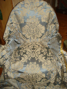 Antique French Silk Damask Curtain Pannel
