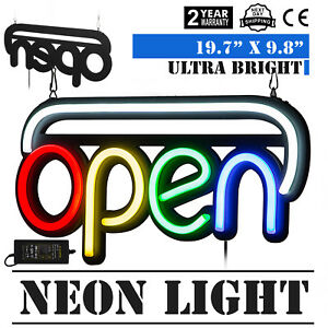 Horizontal Neon Open Sign Light 20 x 10 25w Dormitory Rooms Hotel Bar
