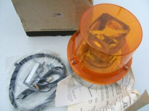 Nos Amber Rotating Light Beacon Dietz 7 61004 Signal stat 7 61004 Corrosion