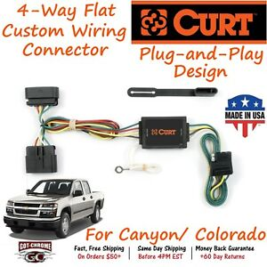55510 Curt 4 way Flat Trailer Wiring Connector Harness Fits Canyon Colorado