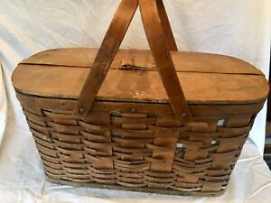 Authentic 1910 Hawkeye Ice Chest Wicker Basket 1900 s Antique Car Show Prop