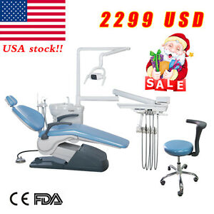 Fda Dental Chair stool Unit Computer Controlled 110v Hard Leather Direct To Door