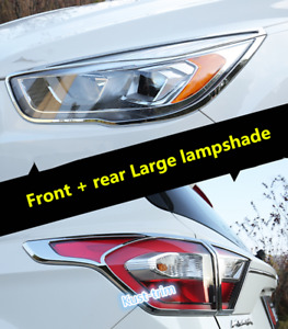 Fit For Ford Escape kuga 2017 2019 Abs Chrome Front Rear Light Lamp Cover Trim