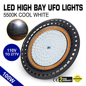 100w Ufo Led High Bay Light Waterproof Eco efficient Commercial 3 95kg