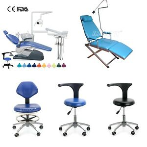 Dental Unit Chair Hard Leather Computer Controlled Mobile Chair