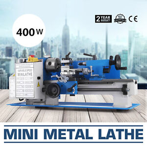7x12 Mini Metal Lathe Metalworking Woodworking Automatic Digital Variable Speed