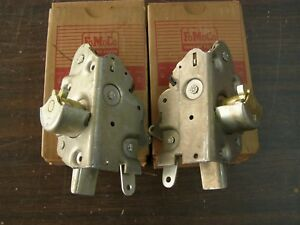 Nos Oem Ford 1960 1963 Falcon 4 Door Rear Latch Pair 1961 1962 Station Wagon
