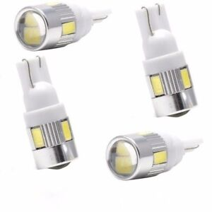 4pcs White T10 W5w 5630 168 194 192 158 6 Smd Led Car Wedge Side Light Bulb Lamp