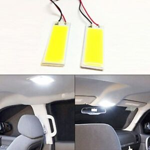 10pcs Panel 12v Led Lamps Hid 36 Cob Car White Bulbs Light X Xenon Interior Map
