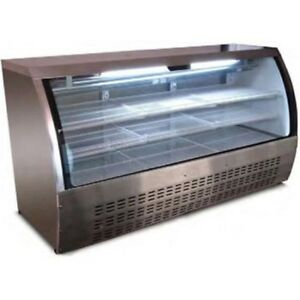 Select Xdc200 78 Curved Glass Deli Case Refrigerated Stainless Steel