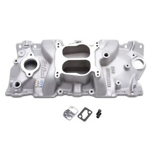 Edelbrock 2101 Performer Intake Manifold For 1955 86 Small block Chevy Satin