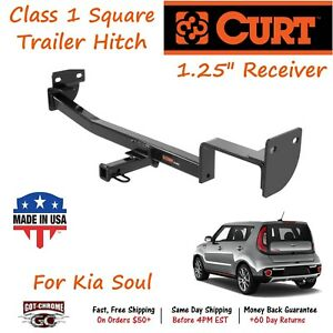 11419 Curt Class 1 Square Trailer Hitch With 1 25 Receiver Tube For Kia Soul