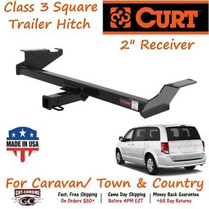 13364 Curt Class 3 Trailer Hitch With 2 Receiver Tube For Grand Caravan C V
