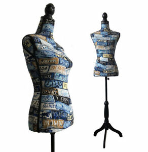 Female Mannequin Torso Dress Clothing Form Display Body With Tripod Stand New