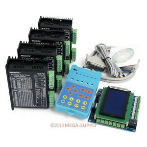 Cnc Kit Standard 4 Axis With Keypad Display Ema2 050d42 Stepper Drivers