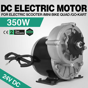 350w Dc Electric Motor 24v 3000rpm Gear Ratio 9 7 1 Bike Reduction Permanent