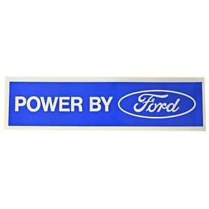 Scott Drake Df 411 Valve Cover Decal Powered By Ford White Blue