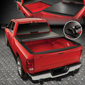 For 1994 2003 Chevy S10 gmc Sonoma Fleetside 6ft Bed Soft Roll up Tonneau Cover